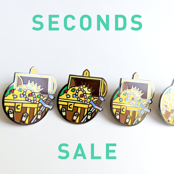 Seconds Sale! Dungeons and Dragons Treasure Hunter Pin, DnD Barbarian enamel Pin, Gifts for Gamers, gifts for geeks, D&D gift