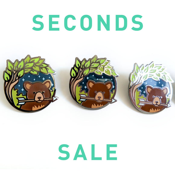 Seconds Sale! Dungeons and Dragons Ranger Pin, Druid enamel pin, Bear enamel pin, gifts for geeks, Trinket Enamel pin