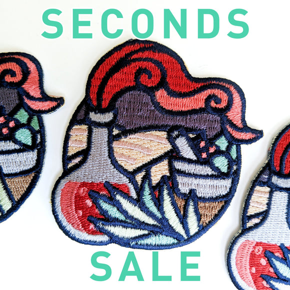 Seconds Sale! Dungeons and Dragons patch, DnD Alchemist patch, D&D potion patch, herbalist patch, plants patch, witch iron on patch