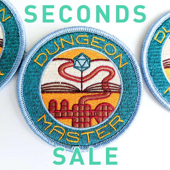 Seconds Sale! Dungeon Master patch, DnD patch, Dungeon Master Gift, D&D patch