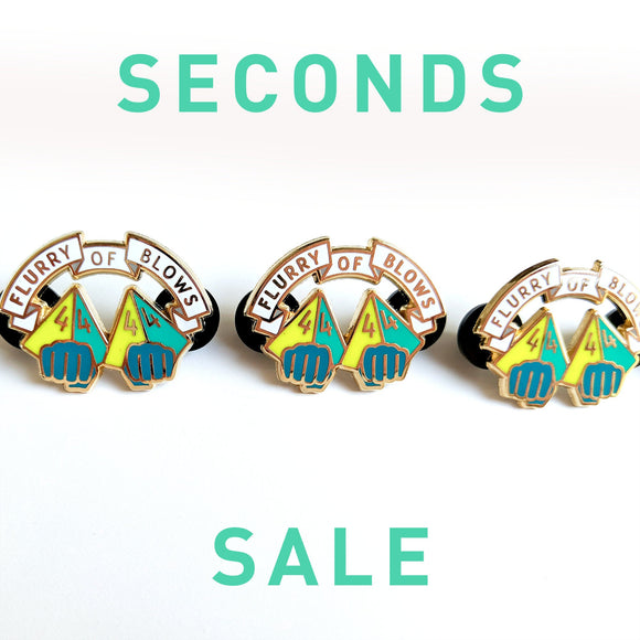 Seconds Sale! Dungeons and Dragons Flurry of Blows Pin, Monk Dnd Enamel Pin, D&D Pin, gifts for geeks, dungeon master gift