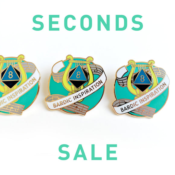 Seconds Sale! Dungeons and Dragons Bardic Inspiration Enamel Pin, Bard D&D Pin, DnD Enamel Pin, gifts for geeks, dungeon master gift