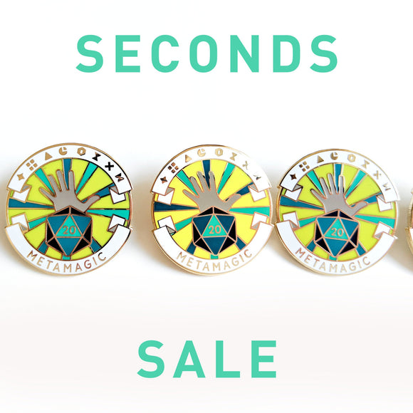 Seconds Sale! Dungeons and Dragons Metamagic Pin, Sorcerer Dnd Enamel Pin, d8 Pin, Tabletop RPG pin, Dungeon Master Gift, D&D pin