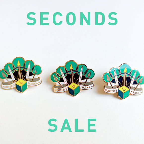 Seconds Sale! Dungeons and Dragons Hunter's Mark Pin, Ranger DnD Enamel Pin, gifts for geeks, dungeon master gift, tabletop rpg dice