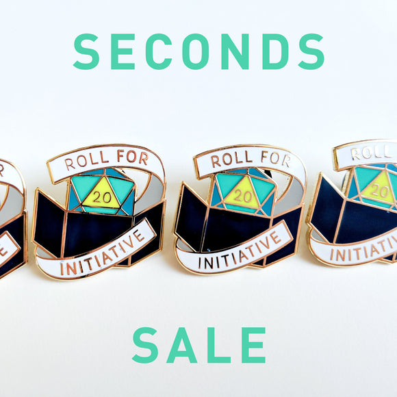 Seconds Sale! Dungeons and Dragons pin, Dungeon Master Enamel Pin, D&D Pin, gifts for geeks, dungeon master gift, tabletop rpg dice