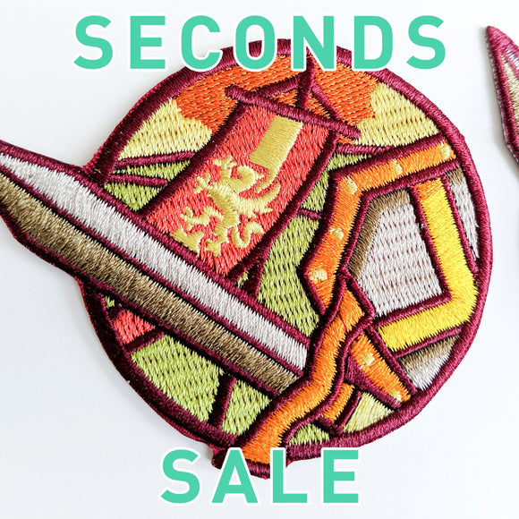 Seconds Sale! Dungeons and Dragons Soldier patch, DnD Paladin patch, Dungeon Master Gift, D&D Fighter patch, Pathfinder patch, Shield patch