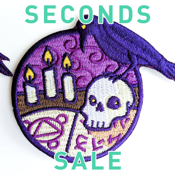 Seconds Sale! Dungeons and Dragons patch, DnD Necromancer patch, D&D Warlock patch, Dungeon Master Gift, Witch patch, Skull patch