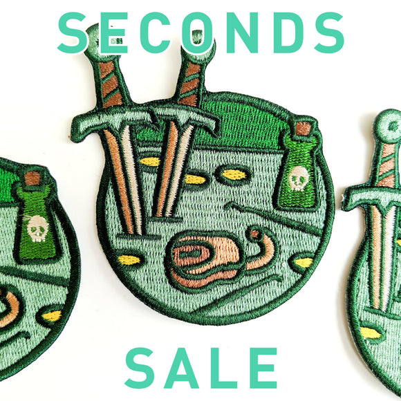 Seconds Sale! Dungeons and Dragons patch, DnD Rogue patch, Dungeon Master Gift, D&D Thief patch, Dagger patch, Pathfinder patch