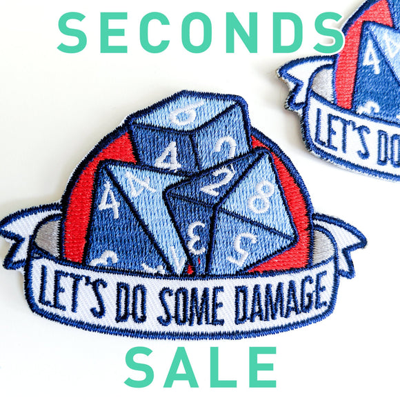 Seconds Sale! Dungeons and Dragons Patch, DnD Damage patch, Dungeon Master patch, Dungeon Master Gift, Dice patch