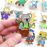 Seconds sale! Koala Alchemist Enamel Pin - Paola's Pixels