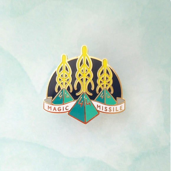Magic Missile Enamel Pin-Paola's Pixels