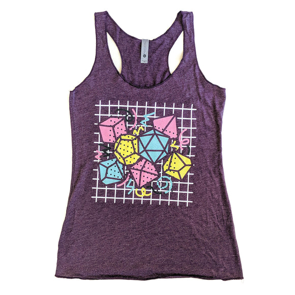 90s Dice Women's Racerback Tank Dark Version - Paola's Pixels