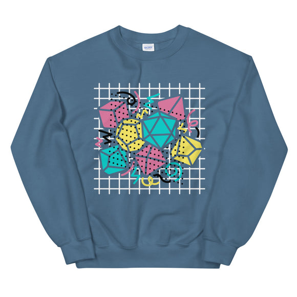90s Dice Sweatshirt Dark Version - Paola's Pixels