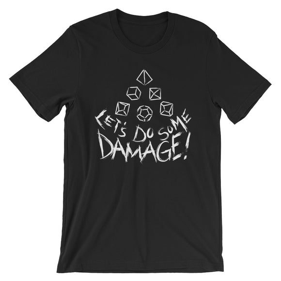 White Let's Do Some Damage Shirt-Paola's Pixels