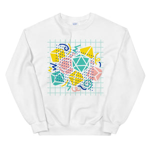90s Dice Sweatshirt Light Version - Paola's Pixels