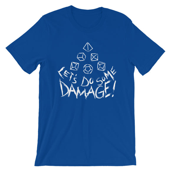 White Let's Do Some Damage Shirt - Paola's Pixels