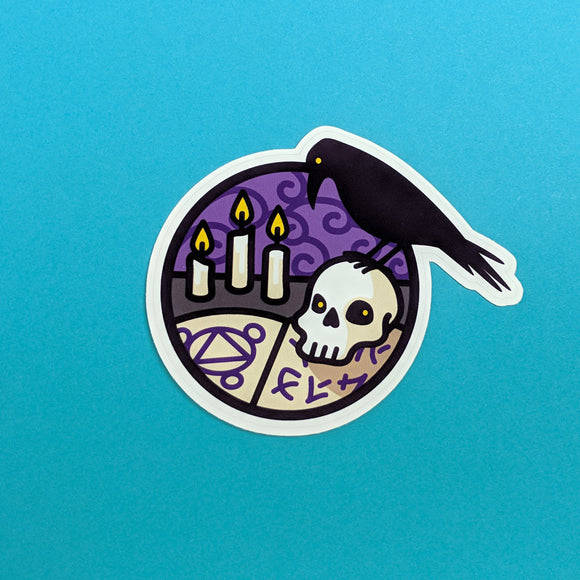 Necromancer Scene sticker