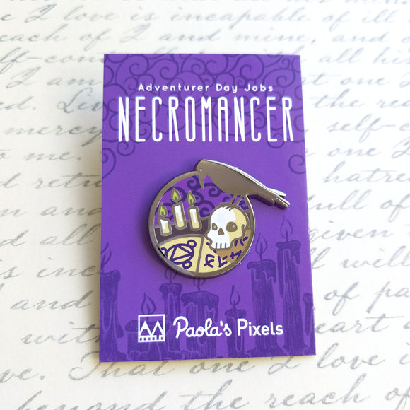 Necromancer Enamel Pin