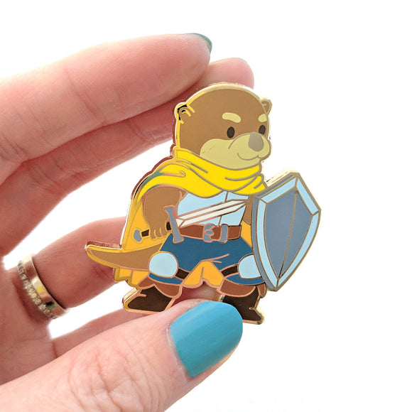 Seconds sale! Otter Fighter Enamel Pin - Paola's Pixels