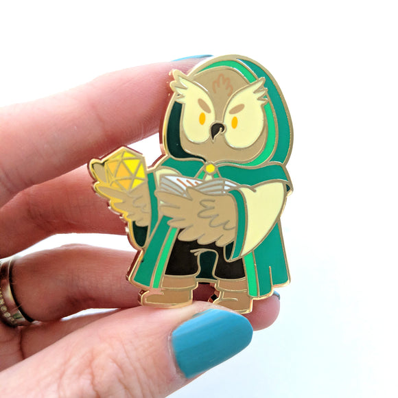Seconds sale! Owl Game Master Enamel Pin - Paola's Pixels