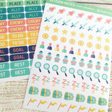 Text and Icon Session Notes Sticker Sheets - Paola's Pixels