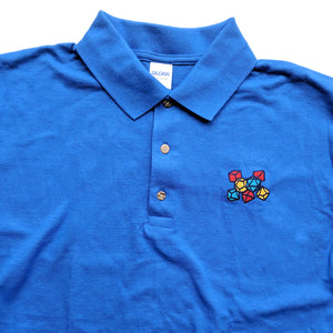 Primary Color Dice Embroidered Polo Shirt