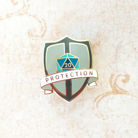 Protection Enamel Pin-Paola's Pixels