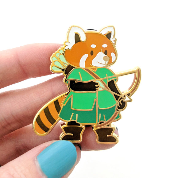 Seconds sale! Red Panda Ranger Enamel Pin - Paola's Pixels