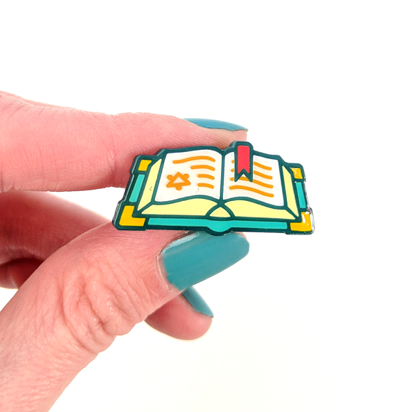 Seconds sale! Spellbook Enamel Pin - Paola's Pixels