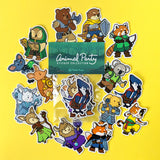 Animal Party Stickers - Paola's Pixels