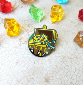 Treasure Hunter Enamel Pin - Paola's Pixels