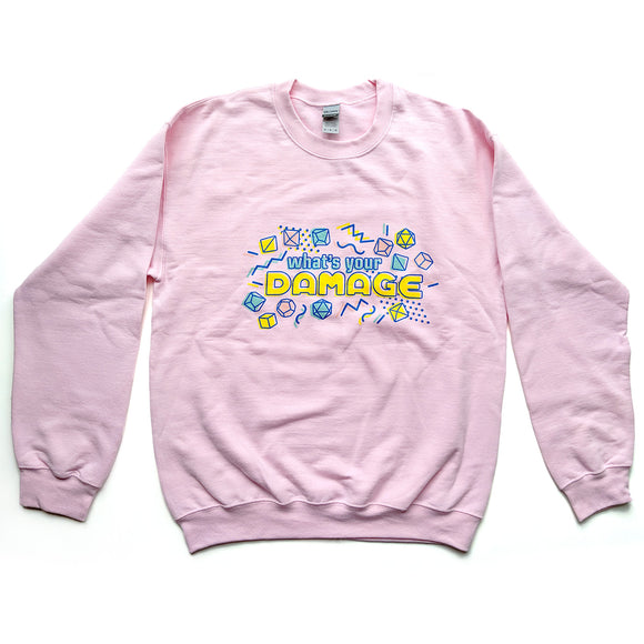 What's Your Damage Sweatshirt - Paola's Pixels