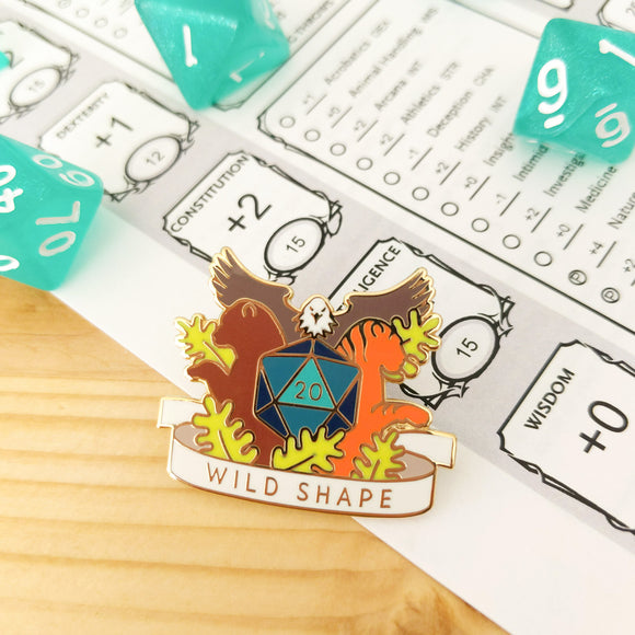 Wild Shape Enamel Pin