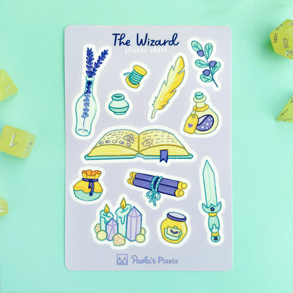 The Wizard Sticker Sheet