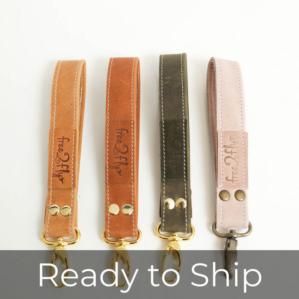All Leather Key Fob