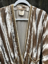 Private Collection Kimono - Cream Velvet & Fringe