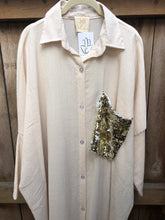 Glam Shirt Dress - Light Beige
