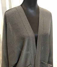 Private Collection Kimono - Grey Checkered Sheer