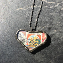 Italian & French Heart Pendant Necklace