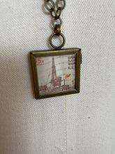 Vintage Stamp Pendant Necklace - KSA Saudi Double-Sided