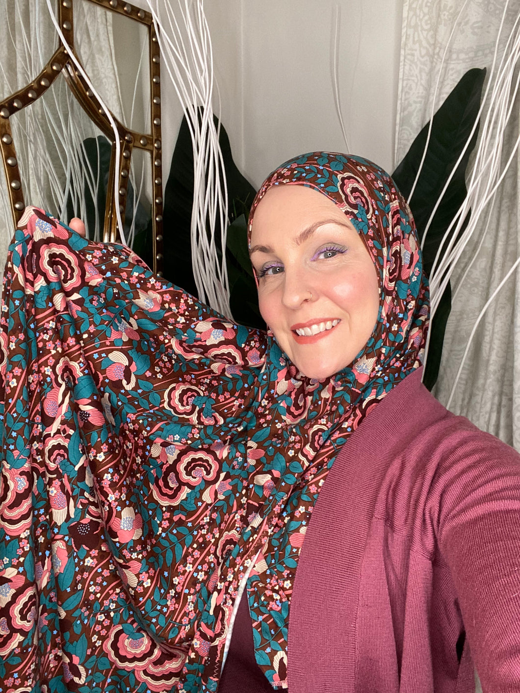 Limited Edition Printed Jersey Hijab: Garden of Destiny