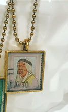 Vintage Stamp Pendant Necklace - Kuwait
