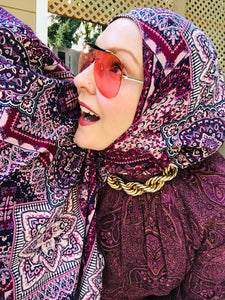 Jersey Hijab - Limited Edition: Slip On - Vintage Burgundy