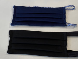 NEW! Hijabi Friendly Face Mask BUNDLE - Two Solids: Black & Navy