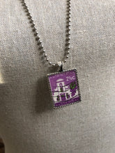 Vintage Stamp Pendant Necklace - Africa, South Africa