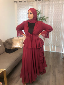 """Night on The Town"" Maxi - Burgundy"
