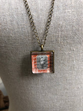 Vintage Stamp Pendant Necklace - Africa, Sudan