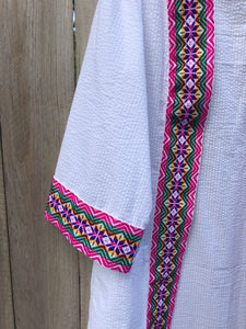 The Eid Fiesta Collection - Peruvian - White & Pink
