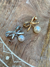 Bow Pearl Pins: Gold or Silver