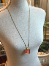 Vintage Stamp Pendant Necklace - Swiss Legend of Helvetia